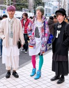 Harajuku Guys w/ Colorful Hair, Banal Chic Bizarre Heels, Creepers & Brogues