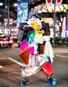 Avantgarde Handmade Harajuku Street Style w/ Mismatched New Rock & YRU Spiked Boots