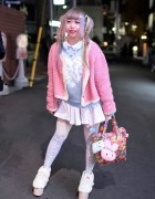 Harajuku Girl in Twintails w/ Kuma Top, Swankiss, 6%DOKIDOKI & Milklim
