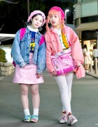 Kawaii Pink Harajuku Street Styles w/ Hello Kitty, Disney, Spinns & WEGO