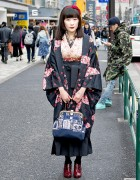 Japanese Kimono & Steampunk Accessories on the Street in Harajuku