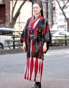 Japanese Street Style w/ Kimono Hazuki Kimono & Tomorrowland Ankle Boots