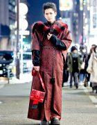 Japanese Street Style Mixing Traditional Fashion & Modern Streetwear w/ Vintage Kimono & Demonia Platforms