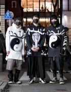 Harajuku Monochrome Streetwear Styles w/ KTZ, Rick Owens & Air Jordans