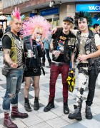 Harajuku Punks w/ Mohawks, Studded Leather & Boots