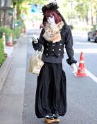 Harajuku Shironuri w/ Angelic Pretty Bag & Vivienne Westwood Shoes