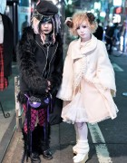 Shironuri Style & Cyber Goth on The Street in Harajuku