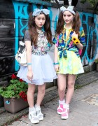 Harajuku Sisters in Twintails & WEGO Platform Sandals w/ Disney Accessories