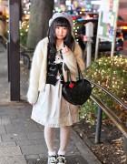 "Harajuku Style w/ Amoyamo ""Living Dead"" Beret & Angelic Pretty"