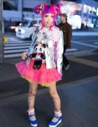 Haruka Kurebayashi's Super-Kawaii Pink Hair & Fashion in Harajuku