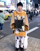 HEIHEI Dalmatians Sweatshirt & Bones Bandana in Harajuku