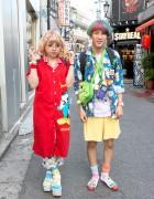 Rainbow Hair, Round Glasses, Astro Boy, Hello Kitty & Mickey Mouse in Harajuku