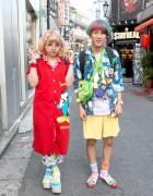 Rainbow Hair, Round Glasses, Astro Boy, Hello Kitty & Mickey Mouse in Harajuku