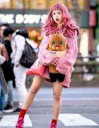 Hikapu in Kawaii Pink Harajuku Street Style w/ Nebaarukun, Swankiss, Last Virgin & WC