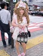 Shibuya Hime Gyaru w/ Hair Bows, Crown Necklace & Flowers