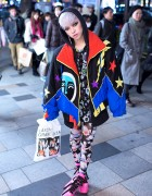 Hirari Ikeda in Harajuku w/ NICOPANDA & Hello Kitty