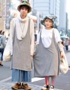Harajuku Duo in Hats w/ San to Nibun No Ichi, Kinji, HUG & Vivienne Westwood