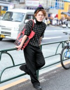 Harajuku Guy in Saint Laurent, 3.1 Phillip Lim, Issey Miyake & Dior Homme