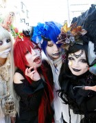 "Japanese Shironuri ""White Face Monster Party"" in Harajuku – Pics & Video"