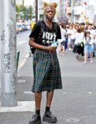 Male Fashion Model in Harajuku Wearing Vintage Jean Paul Gaultier