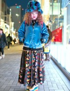 Colorful Harajuku Resale Street Style w/ Rainbow Smiley Face Platforms