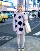 Art School Fan in Harajuku w/ Jouetie Sweater & Nadia Platform Sneakers
