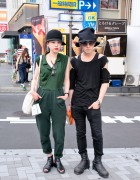 Stylish Harajuku Couple in Avan Trance, Henrik Vibskov, Juun.J & Julius