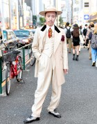 Retro Men's Zoot Suit Style in Tokyo w/ Juvenile Delinquent & Lloyd Footwear