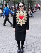 KTZ Heart Dress & Tokyo Bopper Studded Platforms in Shinjuku