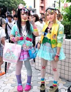 Decora Fashion w/ Little Twin Stars, Doll Head & Eyeballs in Harajuku