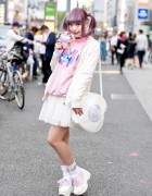 Harajuku Girl w/ Pastel Twintails & Kawaii Fashion by Ank Rouge & Neon Moon