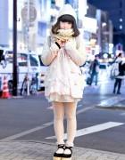 Keisuke Kanda Pastel Blazer, Tulle Skirt & Tokyo Bopper Platforms in Harajuku
