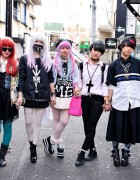 Harajuku Girls in Modern Streetwear Style w/ Boy London & Jeffrey Campbell