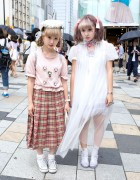 Harajuku Girls w/ Pastel Hair, Resale Fashion, Ribbons, Lace, Hearts & Seashells