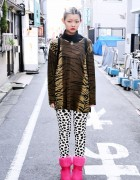 Koenji Street Style w/ Animal Print, Polka Dots, Resale Fashion & Topshop