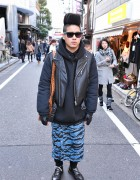 4jigeN Fashion Designer Kouhei w/ Hi-Top Fade Hairstyle in Harajuku