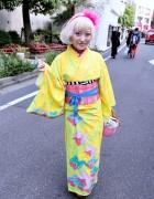 Kumamiki's Kawaii Kimono & Cute Party Baby Basket in Harajuku