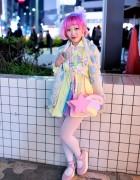 Kumamiki w/ Pink Hair, Party Baby, SPANK! & Angelic Pretty in Harajuku
