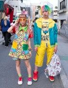 Kawaii 90884 Dress, Colorful Hair & Dress 'N Dazzle Donut Watch in Harajuku