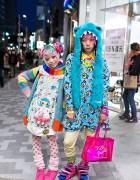 Kurebayashi & Junnyan in Harajuku w/ Kawaii Monsters & Colorful Hair