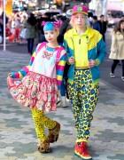 Haruka Kurebayashi & Junnyan's Colorful Harajuku Street Fashion