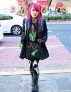 """Dead Girl"" Lisa in Harajuku w/ Pink-Purple Hair & Kreepsville 666"