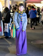 Colorful Street Style w/ Little Sunny Bite Purple Denim & Kobinai Rainbows