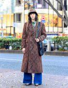 Luna Mattino Japanese Street Style in Harajuku w/ Dries Van Noten, Paul Smith & Gianfranco Ferre