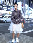 Harajuku Girl w/ LED Sneakers, Sheer Skirt, MCM Bag & Resale Shirt