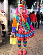 Harajuku Rainbow Style w/ Pink-Blue Hair, Pandas, Teletubbies & SpongeBob