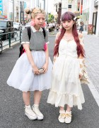 Manapyon & Ririan in Harajuku w/ Vintage Fashion & Cute Hairstyles