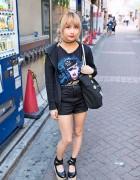Cute Hair & Makeup, Marilyn Manson Top & Very Brain Tote in Shibuya