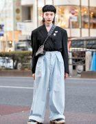 Vintage Blazer Tucked Into Baggy Jeans w/ Martine Rose, Funktique Tokyo, Bigotre & Eytys in Harajuku
