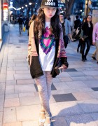 "Mayupu in Harajuku w/ Sweater, Lace, Heels & ""Hey Ladies"" Cap"